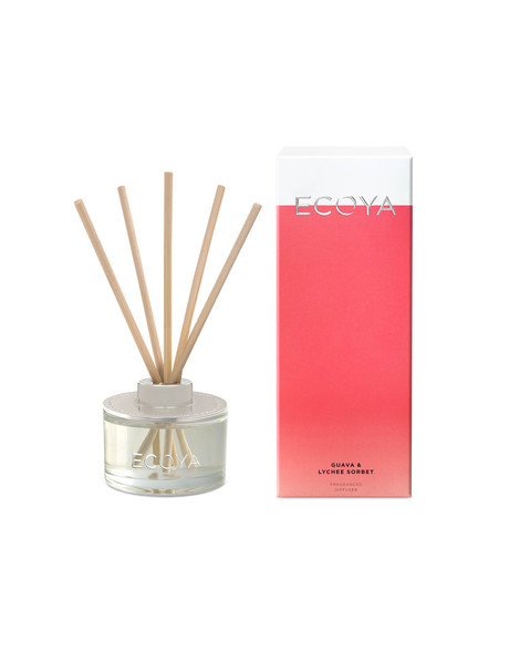 Ecoya Reed Diffuser Mini, Guava & Lychee product photo