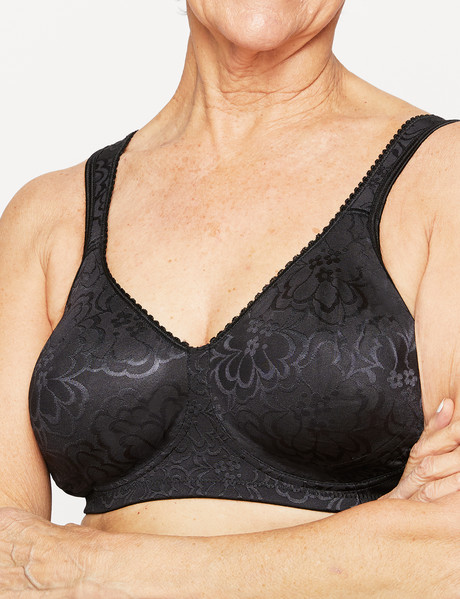 Playtex Ultimate Lift & Support Wirefree Bra Black, B-DD product photo