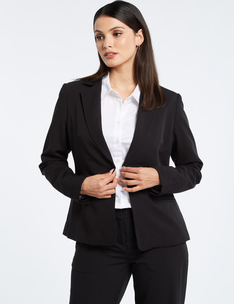 Oliver Black One Button Jacket, Black product photo