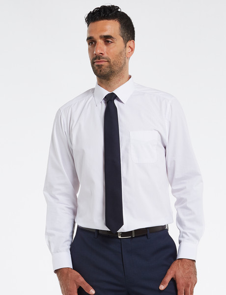 Chisel Formal Essential Long-Sleeve Shirt, White product photo