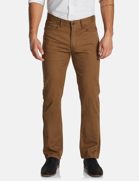 Connor Maxfield Straight Stretch Pant, Camel product photo