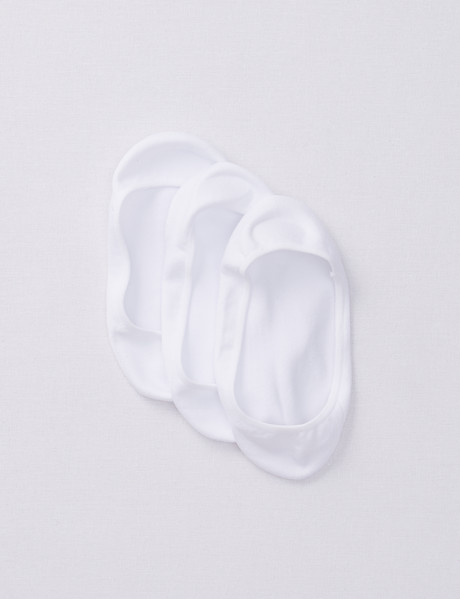 Simon De Winter Sockette, 3-Pack, Super Smooth White product photo