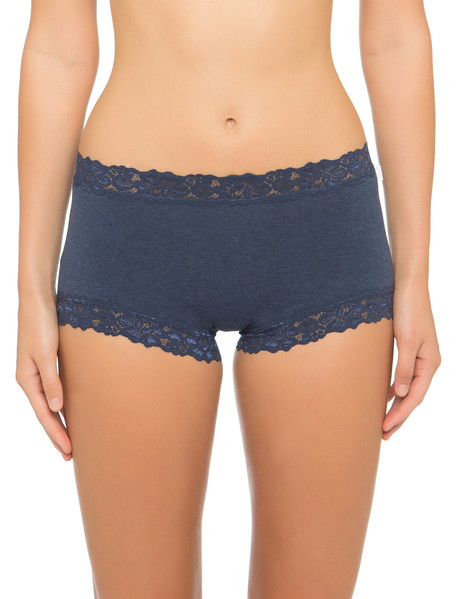 Jockey Woman Parisienne Cotton Marle Full Brief, Ink Blue product photo