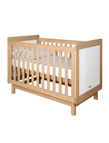 Ordinaire Grotime Scandi 4 In 1 Cot, Honey Elm/White Product Photo