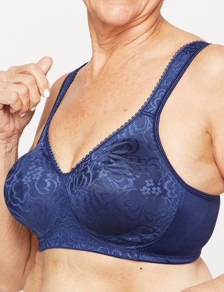 Playtex Ultimate Lift & Support Wirefree Bra, Blue Velvet product photo