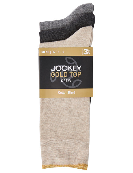 Jockey Business Crew Sock Gold Top Sock, 3-Pack product photo