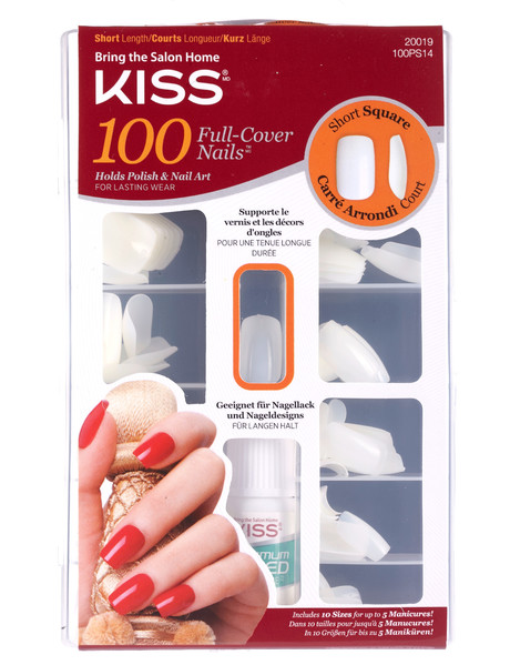 Kiss Nails Short Square 100 Nails