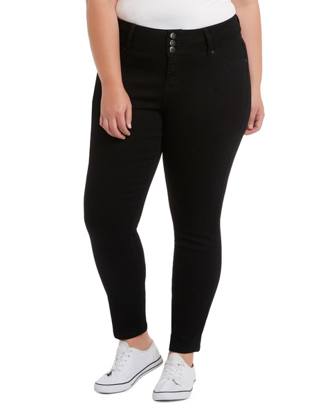 Denim Republic Curve Skinny Jean, Jet Black product photo