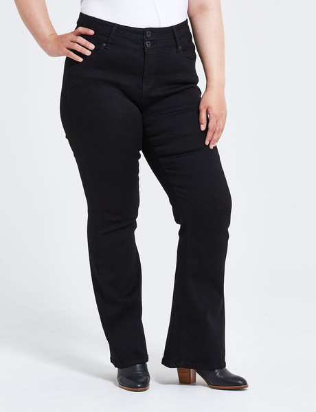 Denim Republic Curve Bootleg Jean, Jet Black product photo