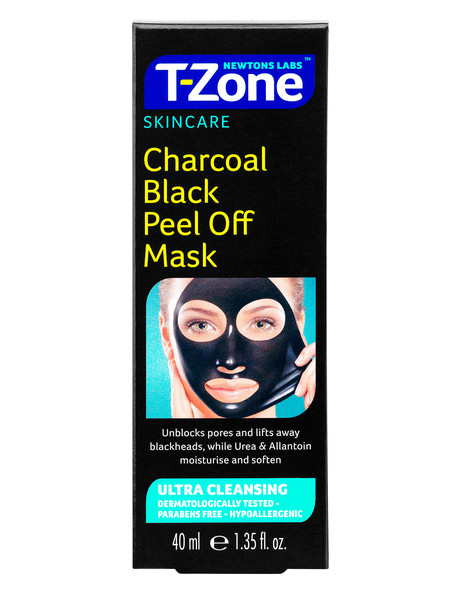 T-Zone Charcoal Black Peel Off Mask, 40ml product photo