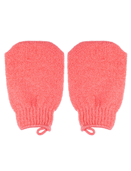 QVS Exfoliating Mitten, Red Sorbet product photo