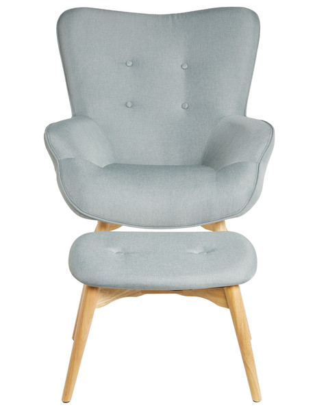 Luca Mabel Armchair with Footstool, Dusty Green product photo