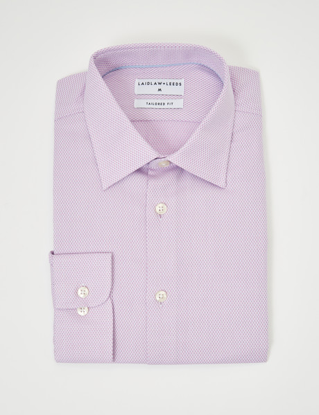 Laidlaw + Leeds Long-Sleeve Jacquard Shirt, Pink product photo
