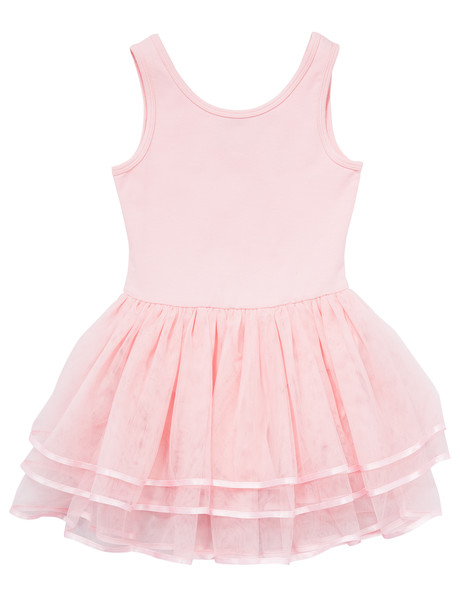 Dance Leotard with Mesh Skirt, Dance Pink product photo