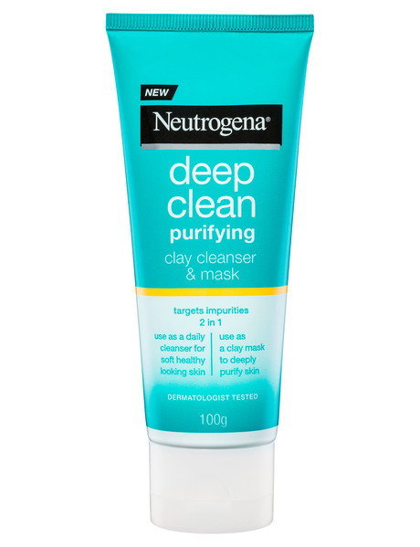 Neutrogena Deep Clean Purifying Clay Cleanser & Mask, 100g product photo