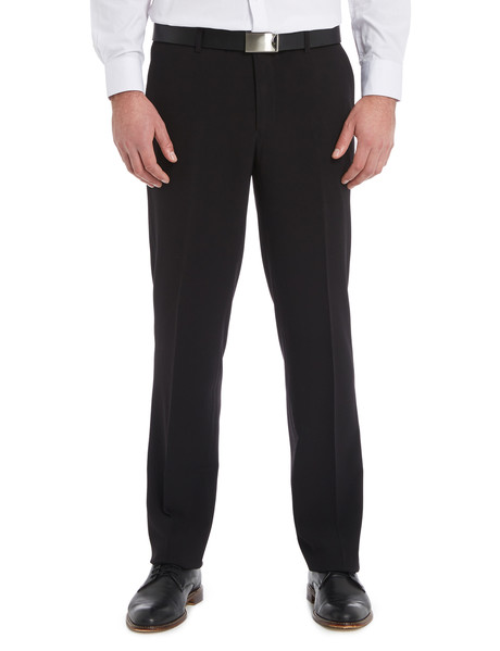 Chisel Flat Front Plain Pant, Classic Fit, Black product photo