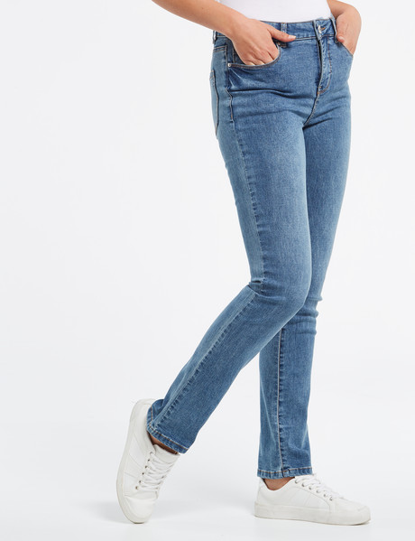 Denim Republic Straight Leg Jean, Blue product photo