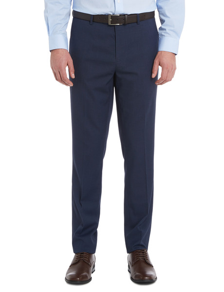 Chisel Formal Flat Front Birdseye Pant, Tailored Fit, Navy product photo