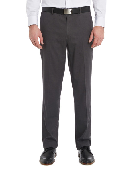Chisel Formal Flat Front Birdseye Pant, Classic Fit, Black product photo