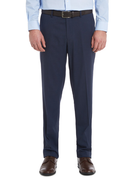 Chisel Flat Front Birdseye Pant, Classic Fit, Navy product photo