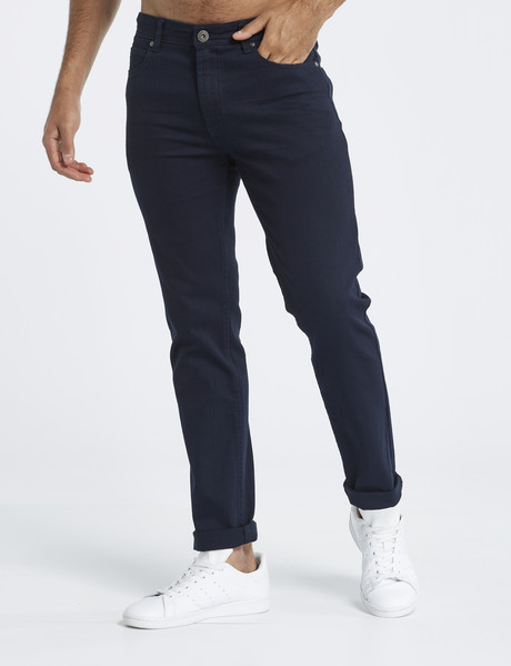 Gasoline Oval Slim Leg Coloured Jean, Navy product photo