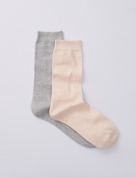 Simon De Winter 2-Pack Comfort Crew Moss Welt Shell/Grey product photo