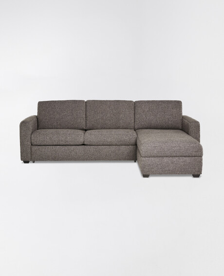 Luca Dalton 2.5 Seater Sofa Bed with Right Hand Chaise, Pewter