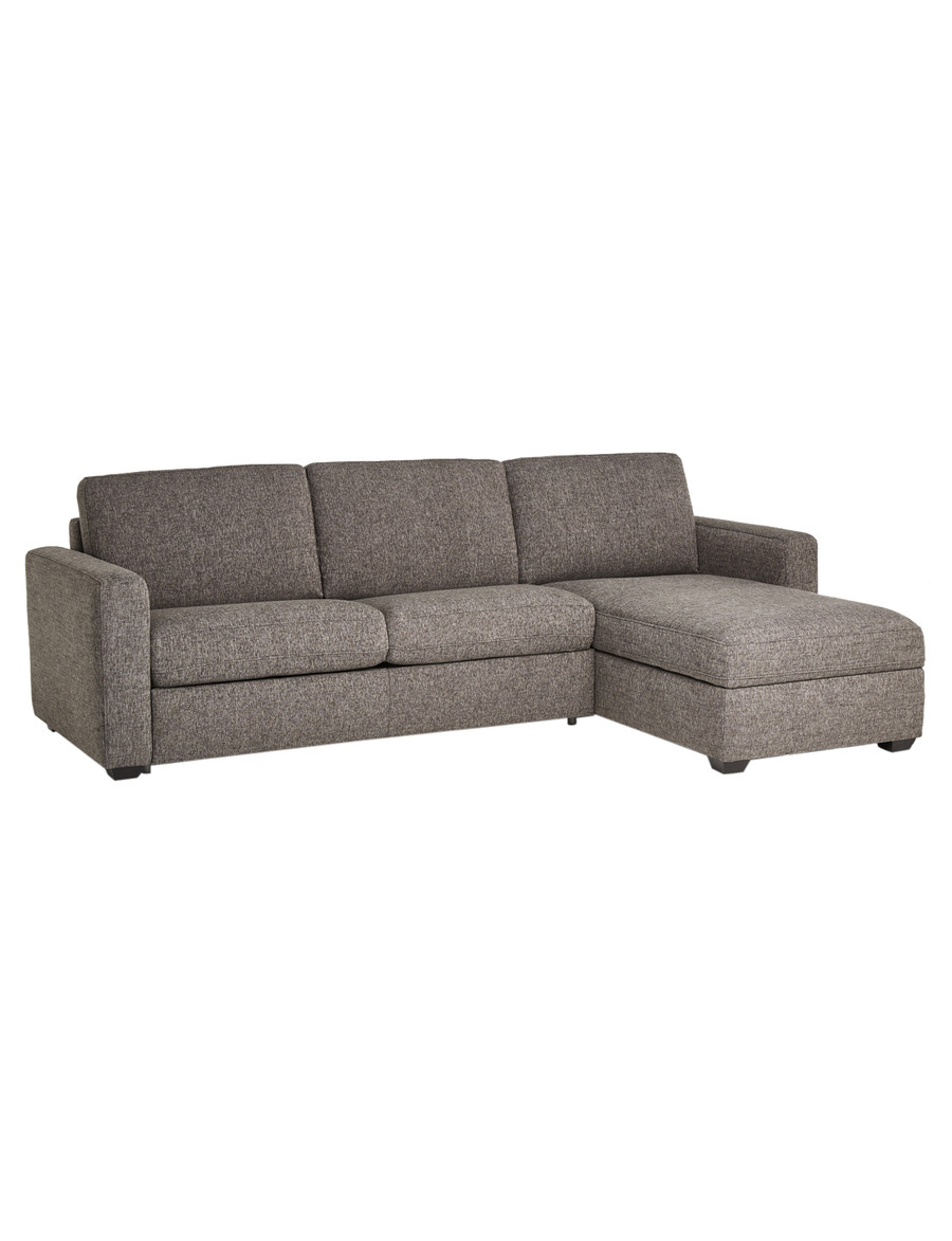 luca dalton 2 5 seater sofa bed with right hand chaise pewter