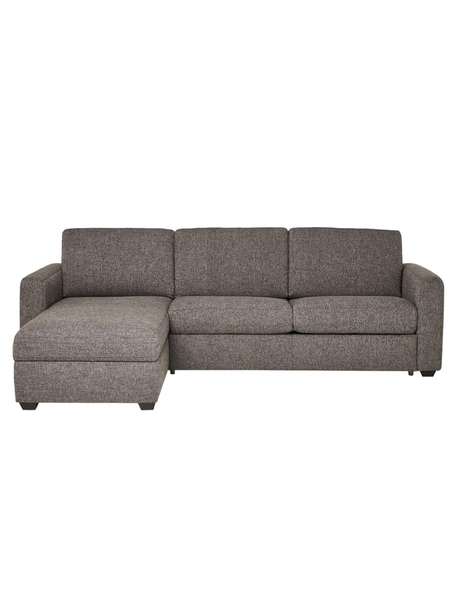 luca dalton 2 5 seater sofa bed with left hand chaise pewter