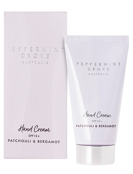 Peppermint Grove Hand Cream Tube, 75ml, Patchouli & Bergamot product photo