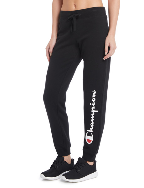 Champion Script Cuffed Pant, Black product photo