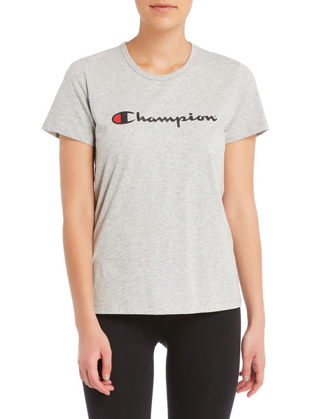 Champion Short-Sleeve Script Tee, Oxford Heather product photo