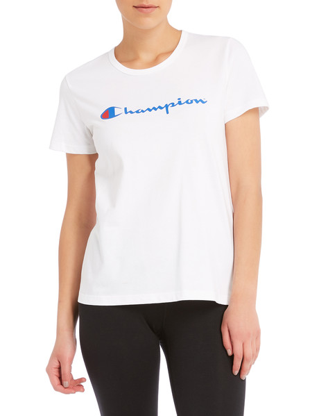 Champion Short-Sleeve Script Tee, White product photo