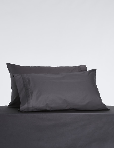 Mondo 600 Thread Cambridge Standard Pillowcase, Pair, Woodsmoke product photo