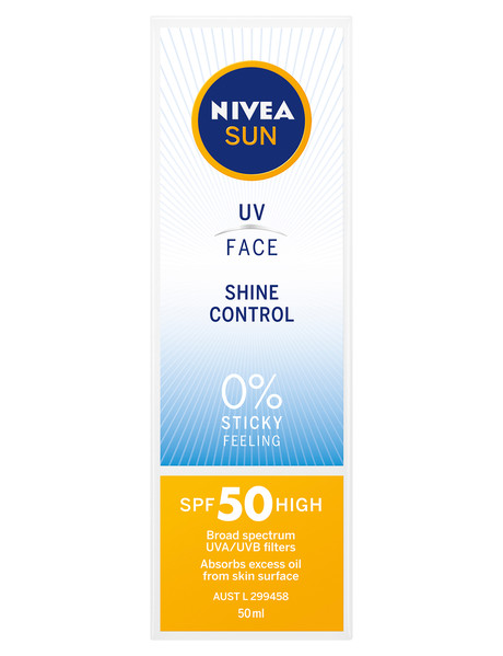 Nivea UV Face Shine Control Sunscreen SPF50, 50ml product photo