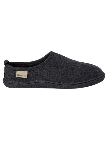 Mi Woollies Andy Scuff, Wool Blend Felt, Grey Marle product photo