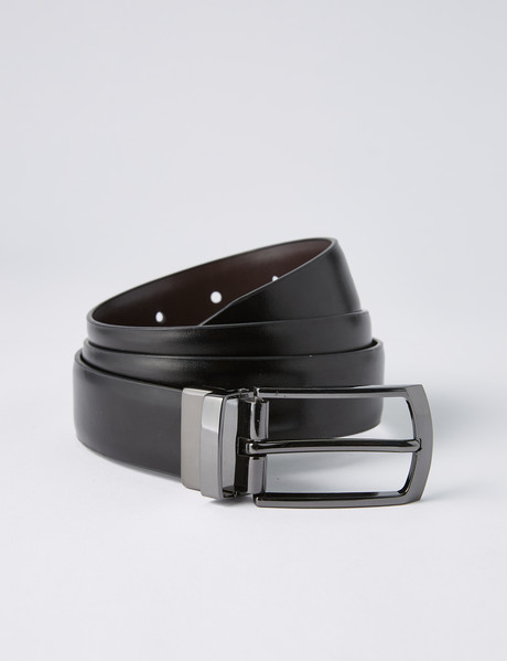 Chisel Reversible Leather Belt, Black/Brown product photo