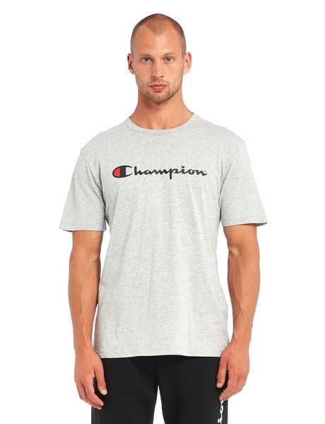 Champion Script Short-Sleeve Tee, Grey Marle product photo