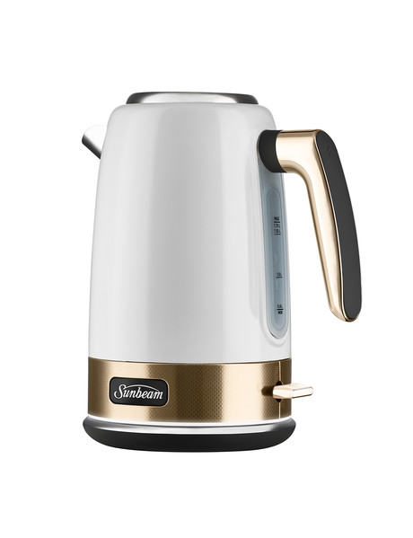 Sunbeam New York Jug Kettle, White & Gold, KE4430WG product photo