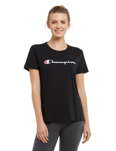 Champion Script Print Tee, Black product photo