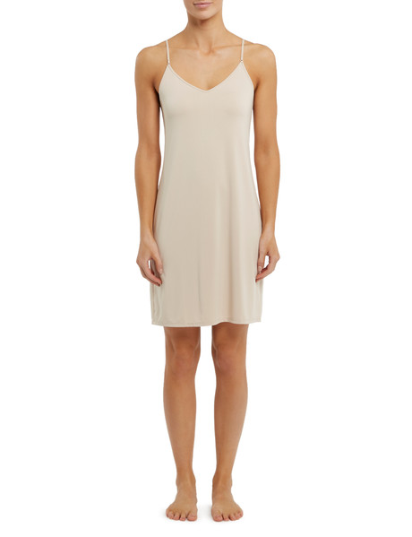 Lyric Microfibre Full Slip, Mid-Length, Nude product photo