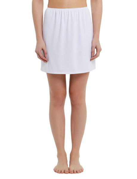 Lyric Microfibre Half Slip, Short-Length, White product photo