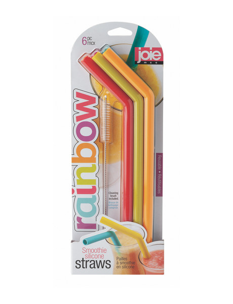 Joie Impulse 6-Piece Silicone Smoothie Straws product photo