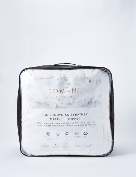 Domani Duck Down & Feather 80/20 Mattress Topper product photo