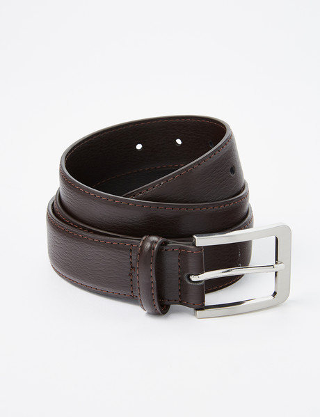 Chisel Textured Leather Belt, Brown product photo