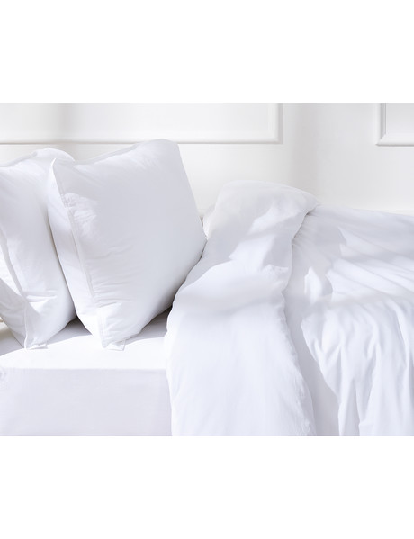 Haven Home 250 Thread Count Vintage Wash Duvet Cover Set, White product photo