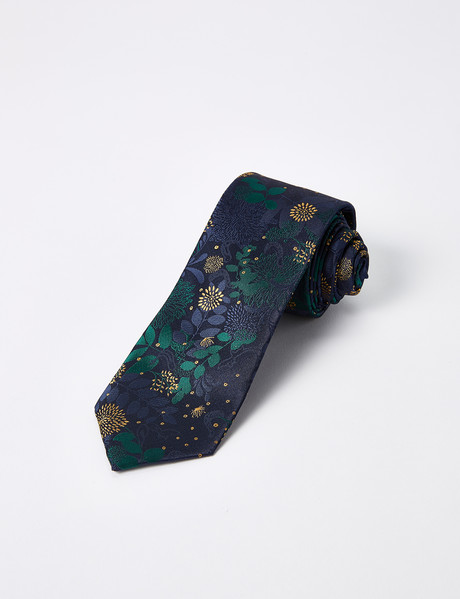Laidlaw + Leeds Floral Tie, 7cm, Green product photo