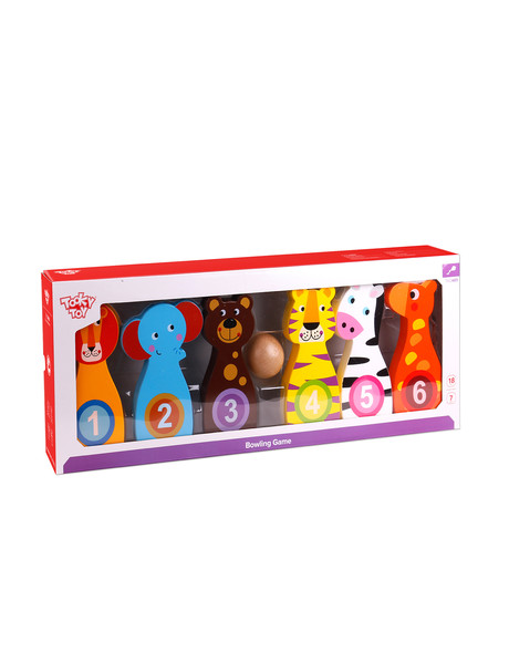 Tooky Toy Wooden Bowling Game product photo
