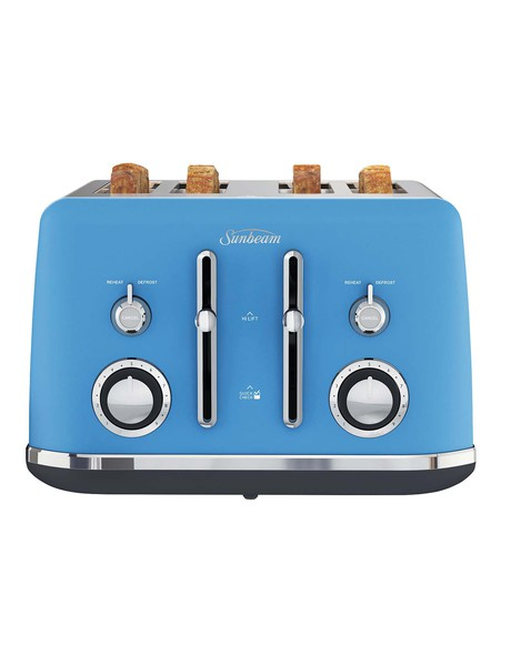 Sunbeam Alinea 4 Slice Toaster, Blue, TA2740K product photo