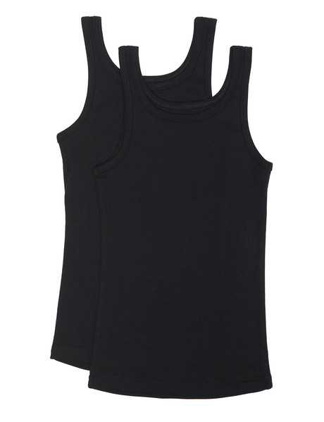 Hanes Rib Singlet, Black, 2-Pack product photo